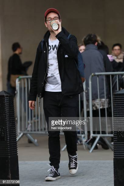 Dan Smith from Bastille seen at BBC Radio One on January 30 2018 in London England