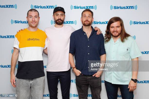 Dan Smith Kyle J Simmons Will Farquarson and Chris Wood of Bastille visit the SiriusXM Studios on June 20 2019 in New York City