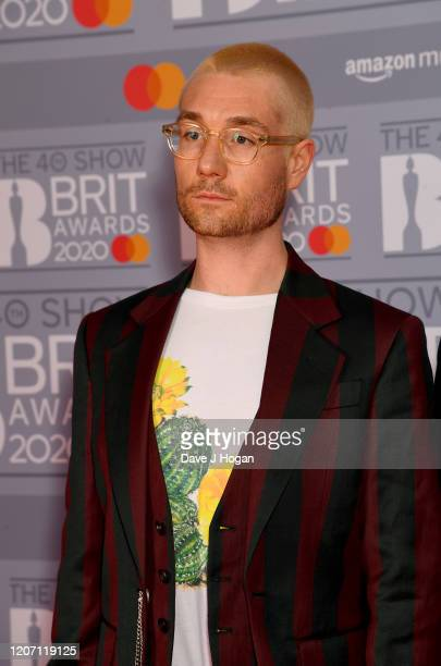 Dan Smith of Bastille attends The BRIT Awards 2020 at The O2 Arena on February 18 2020 in London England