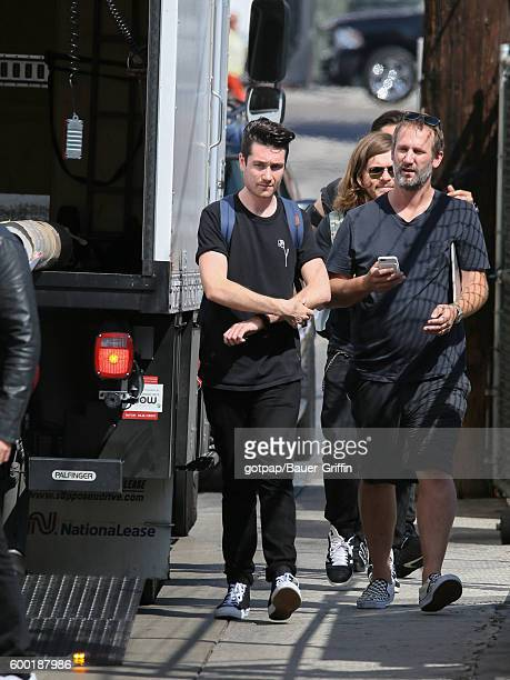 Dan Smith of 'Bastille' is seen at 'Jimmy Kimmel Live' on September 07 2016 in Los Angeles California