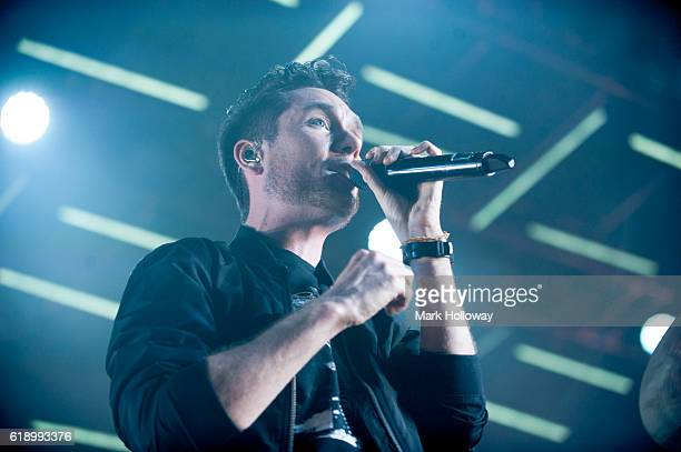 Dan Smith of Bastille performing on stage at BIC on October 28 2016 in Bournemouth England