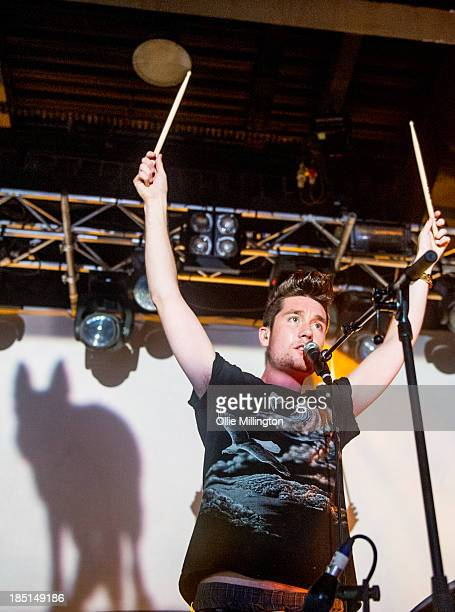 Dan Smith of Bastille performs at 02 Academy on October 17 2013 in Leicester England