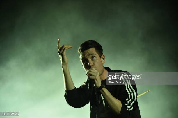 Dan Smith of Bastille performs at Barclays Center of Brooklyn on March 30 2017 in the Brooklyn borough of New York City