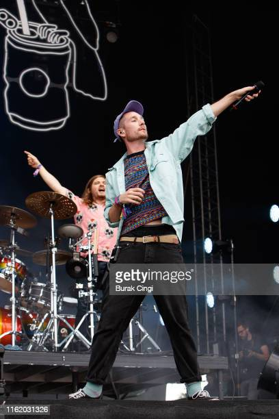 Dan Smith of Bastille performs at Citadel Festival at Gunnersbury Park on July 14 2019 in London England