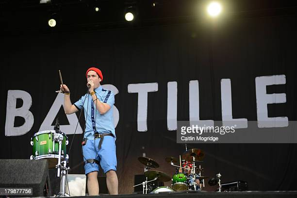 Dan Smith of Bastille performs at Day 3 of Bestival at Robin Hill Country Park on September 7 2013 in Newport Isle of Wight