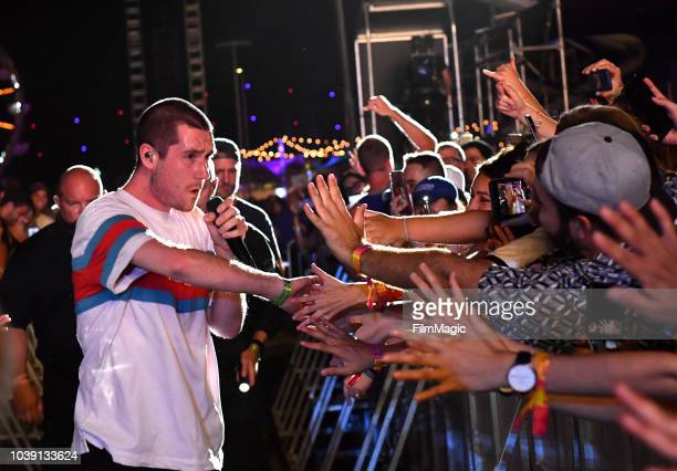 Dan Smith of Bastille performs at Downtown Stage during the 2018 Life Is Beautiful Festival on September 23 2018 in Las Vegas Nevada