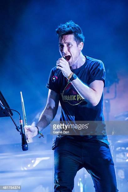 Dan Smith of Bastille performs at FIB Benicassim Festival on July 19 2015 in Benicassim Spain