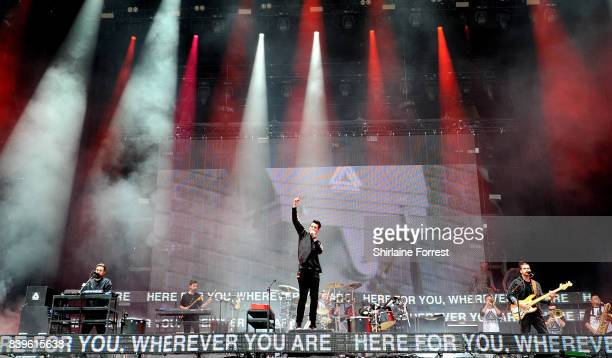 Dan Smith of Bastille performs at Leeds Festival at Bramhall Park on August 26 2017 in Leeds England