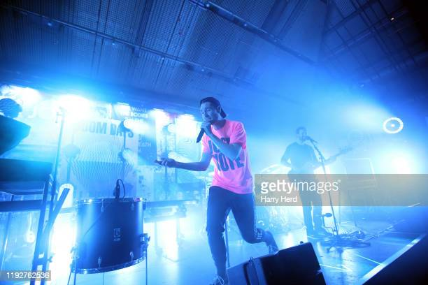 Dan Smith of Bastille performs at Pyramids Plaza on December 08 2019 in Portsmouth England