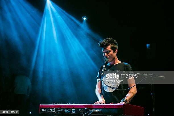 Dan Smith of Bastille performs at Royal Oak Music Theater on January 19 2014 in Royal Oak Michigan