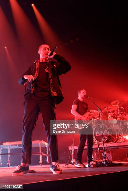Dan Smith of Bastille performs at Spark Arena on January 22 2020 in Auckland New Zealand