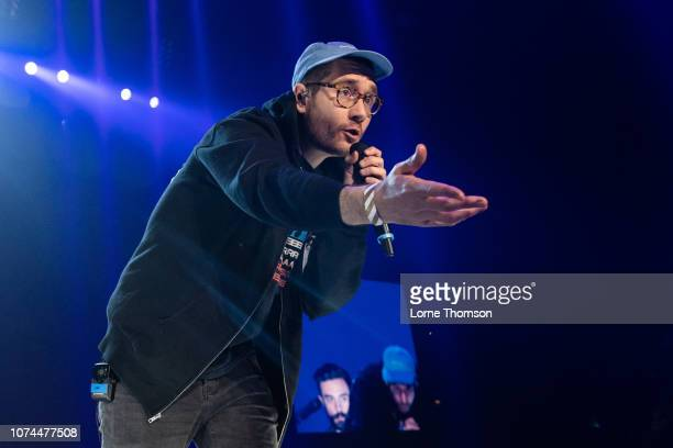 Dan Smith of Bastille performs at the Streets of London x Ellie Goulding fundraiser at The O2 Arena on December 20 2018 in London England