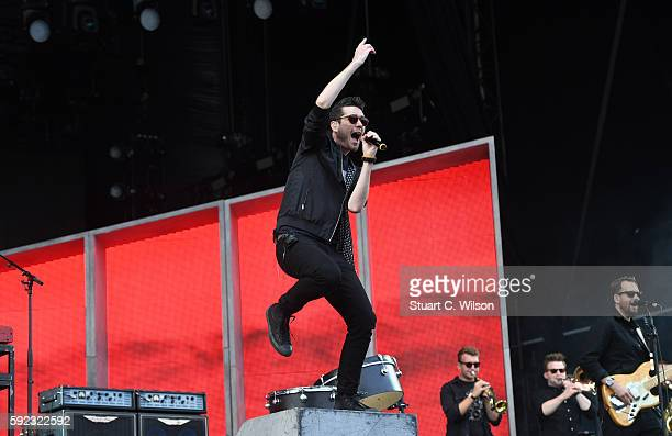 Dan Smith of 'Bastille' performs at V Festival at Hylands Park on August 20 2016 in Chelmsford England