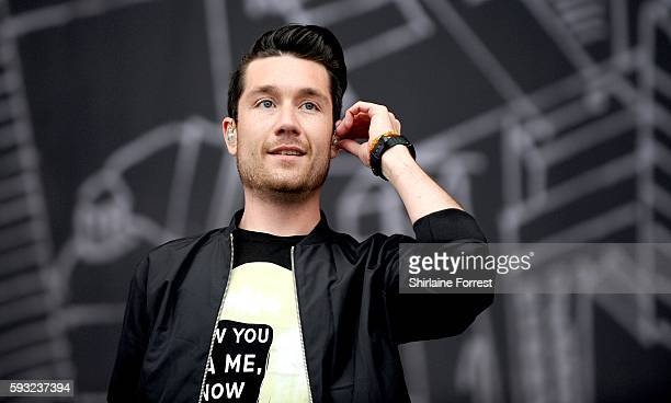 Dan Smith of bastille performs at V Festival at Weston Park on August 21 2016 in Stafford England