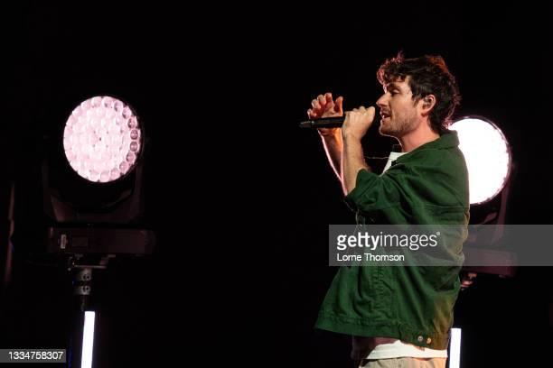 Dan Smith of Bastille performs during Hampton Court Palace Festival 2021 at Hampton Court Palace on August 17, 2021 in London, England.
