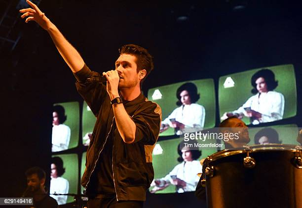 Dan Smith of Bastille performs during Live 105's Not So Silent Night at ORACLE Arena on December 10 2016 in Oakland California