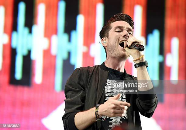 Dan Smith of Bastille performs during Lollapalooza at Grant Park on July 28 2016 in Chicago Illinois