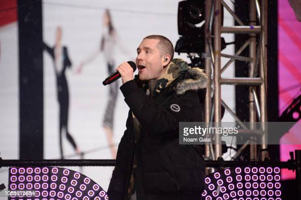 Dan Smith of Bastille performs during New Year's Eve 2019 in Times Square on December 31 2018 in New York City