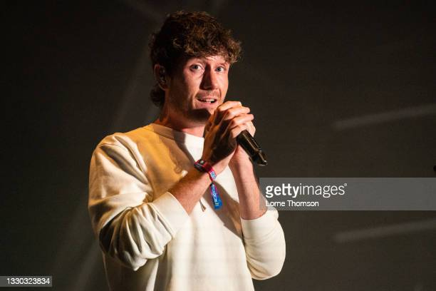 Dan Smith of Bastille performs during Standon Calling 2021 on July 23, 2021 in Standon, England.