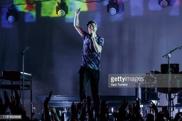 Dan Smith of Bastille performs in concert at Razzmatazz on February 27 2019 in Barcelona Spain
