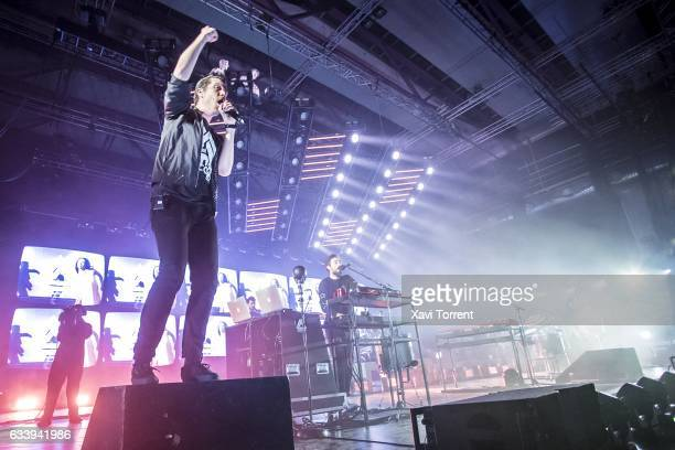 Dan Smith of Bastille performs in concert at Sant Jordi Club on February 5 2017 in Barcelona Spain