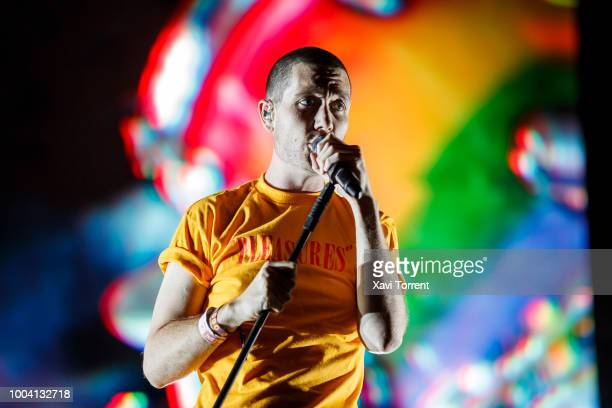 Dan Smith of Bastille performs in concert during day 4 of Festival Internacional de Benicassim on July 22 2018 in Benicassim Spain