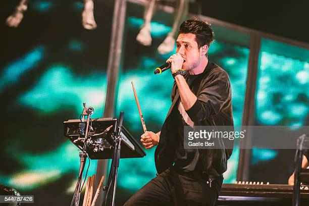 Dan Smith of Bastille performs live at Open'er Festival at Gdynia Kosakowo Airport on July 2 2016 in Gdynia Poland