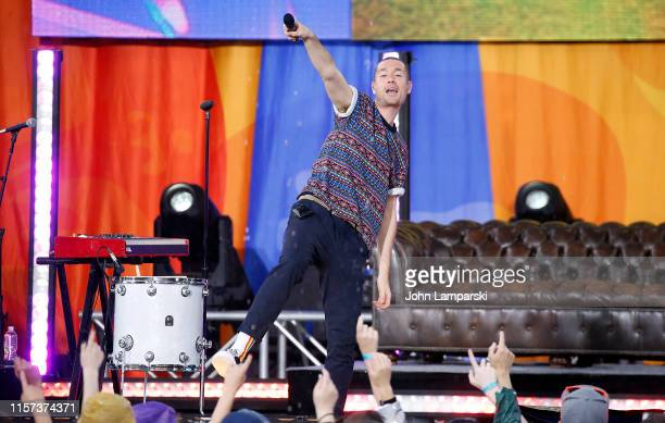 Dan Smith of Bastille performs on ABC's Good Morning America at SummerStage at Rumsey Playfield Central Park on June 21 2019 in New York City