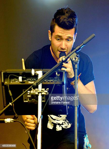 Dan Smith of Bastille performs on day 2 of the Parklife Weekender Festival at Heaton Park on June 8 2014 in Manchester England