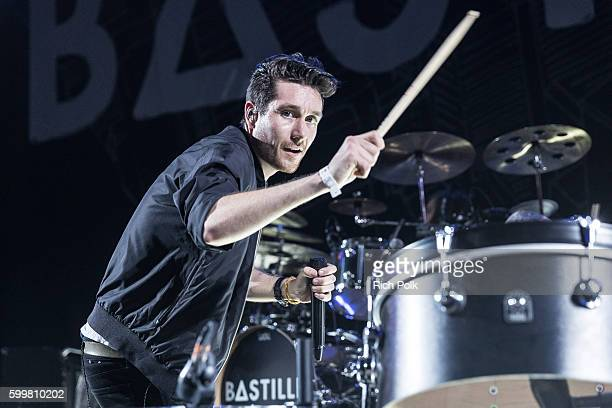 Dan Smith of Bastille performs on stage at iHeartRadio Theater on September 6 2016 in Burbank California