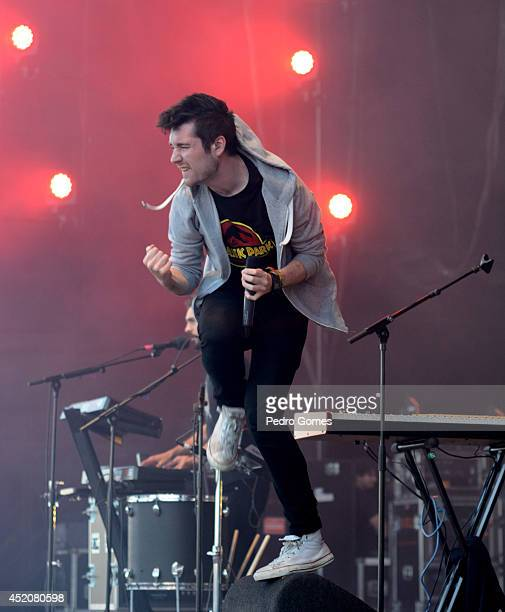 Dan Smith of Bastille performs on stage at Optimus Alive music festival on July 12 2014 in Lisbon Portugal