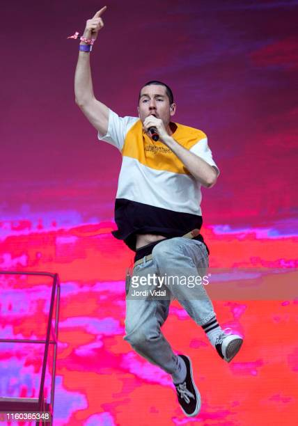 Dan Smith of Bastille performs on stage during Cruilla Festival at Parc del Forum on July 05 2019 in Barcelona Spain