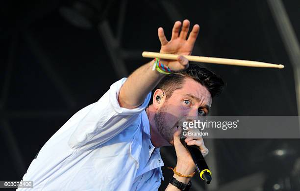 Dan Smith of Bastille performs on stage during Day 4 of Bestival at Robin Hill Country Park on September 11 2016 in Newport Isle of Wight