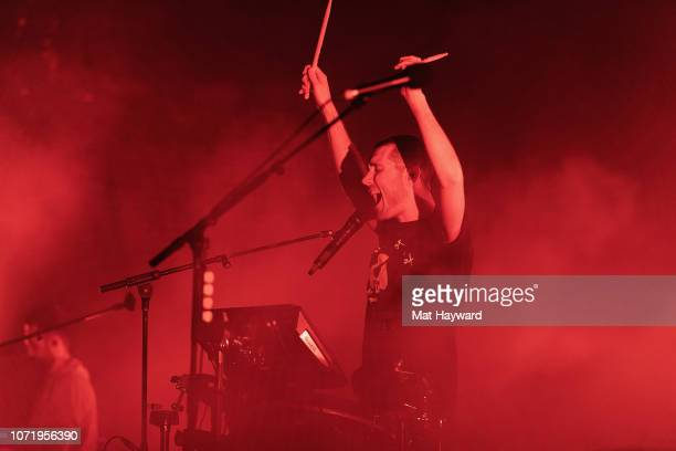 Dan Smith of Bastille performs on stage during Deck The Hall Ball hosted by 1077 The End at WaMu Theater on December 11 2018 in Seattle Washington