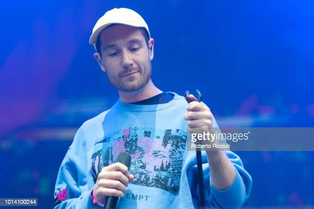 Dan Smith of Bastille performs on stage during Edinburgh Summer Sessions at Princes Street Gardens on August 9, 2018 in Edinburgh, Scotland.