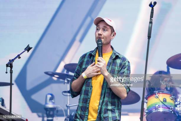 Dan Smith of Bastille performs on stage on day 4 of Sziget Festival 2018 on August 11 2018 in Budapest Hungary