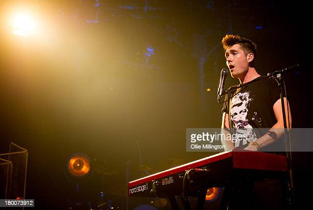 Dan Smith of Bastille performs on the 8th night of the iTunes festival onstage at at The Roundhouse on September 8 2013 in London England