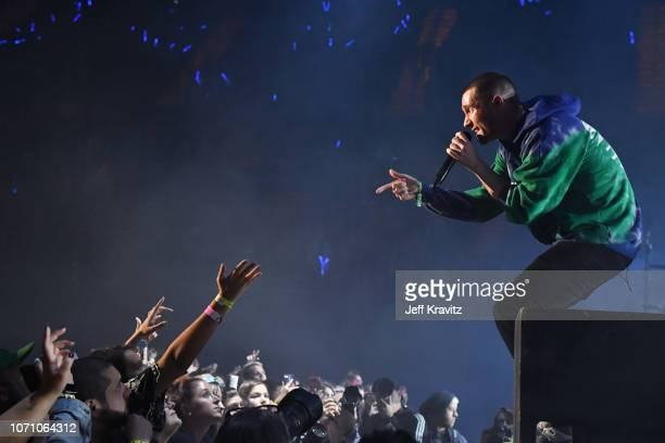 Dan Smith of Bastille performs onstage during KROQ Absolut Almost Acoustic Christmas 2018 at The Forum on December 9 2018 in Inglewood California