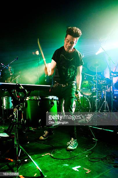 Dan Smith of Bastille performs the night before their debut album 'Bad Blood' charts in the UK at The Institute on March 9 2013 in Birmingham England