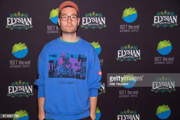 Dan Smith of Bastille poses for a photo after performing an EndSession hosted by 1077 The End at Fremont Abbey Arts Center on June 14 2018 in Seattle...