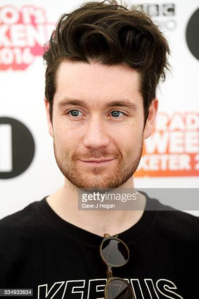 Dan Smith of Batille poses for a photo during day 1 of BBC Radio 1's Big Weekend at Powderham Castle on May 28 2016 in Exeter England