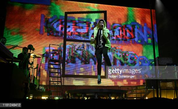 Dan Smith of the band Bastille performs during day 1 of the Greentech Festival at Tempelhof Airport on May 23 2019 in Berlin Germany The Greentech...