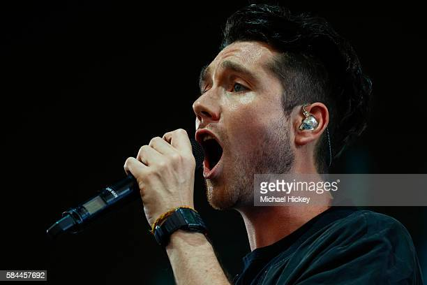 Dan Smith of the band Bastille performs on day one of Lollapalooza on July 28 2016 in Chicago Illinois
