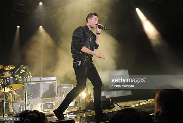Dan Smith of the band Bastille performs onstage at 1067 KROQ Almost Acoustic Christmas 2016 Night 2 at The Forum on December 11 2016 in Inglewood...