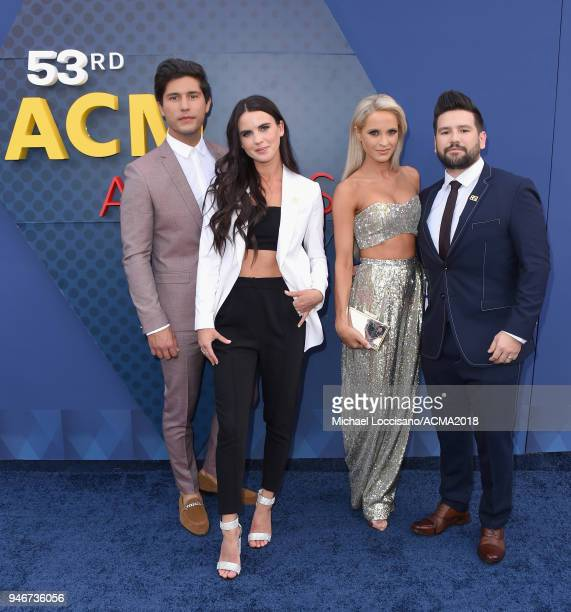 Dan Smyers and Shay Mooney attend the 53rd Academy of Country Music Awards at MGM Grand Garden Arena on April 15 2018 in Las Vegas Nevada
