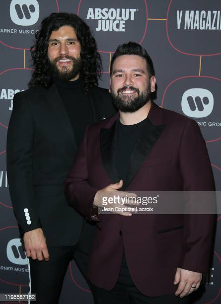 Dan Smyers and Shay Mooney attend the Warner Music Group Pre-Grammy Party at Hollywood Athletic Club on January 23, 2020 in Hollywood, California.