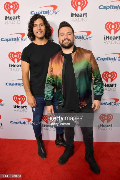 Dan Smyers and Shay Mooney of Dan Shay arrive at the 2019 iHeartCountry Festival Presented by Capital One at the Frank Erwin Center on May 4 2019 in...