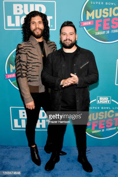 Dan Smyers and Shay Mooney of Dan Shay attend Bud Light Super Bowl Music Fest on February 01 2020 in Miami Florida