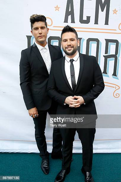 Dan Smyers and Shay Mooney of Dan Shay attend the 10th Annual ACM Honors at the Ryman Auditorium on August 30 2016 in Nashville Tennessee