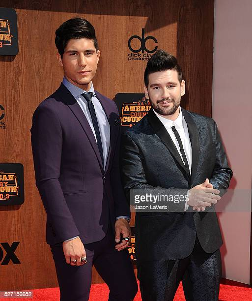 Dan Smyers and Shay Mooney of Dan Shay attend the 2016 American Country Countdown Awards at The Forum on May 01 2016 in Inglewood California